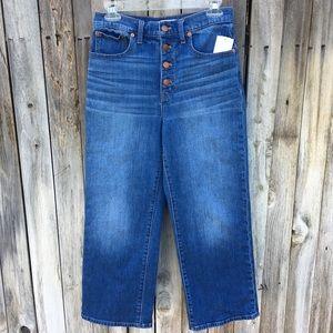 NWT Madewell Slim Wide Leg Crop Jean 27